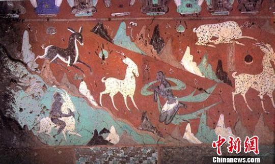"""莫高窟经典壁画""""九色鹿""""穿越千年演绎敦煌文化"""