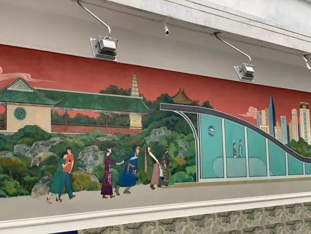 又一网红打卡地!兰州首个城市荧光壁画正式与市民见面
