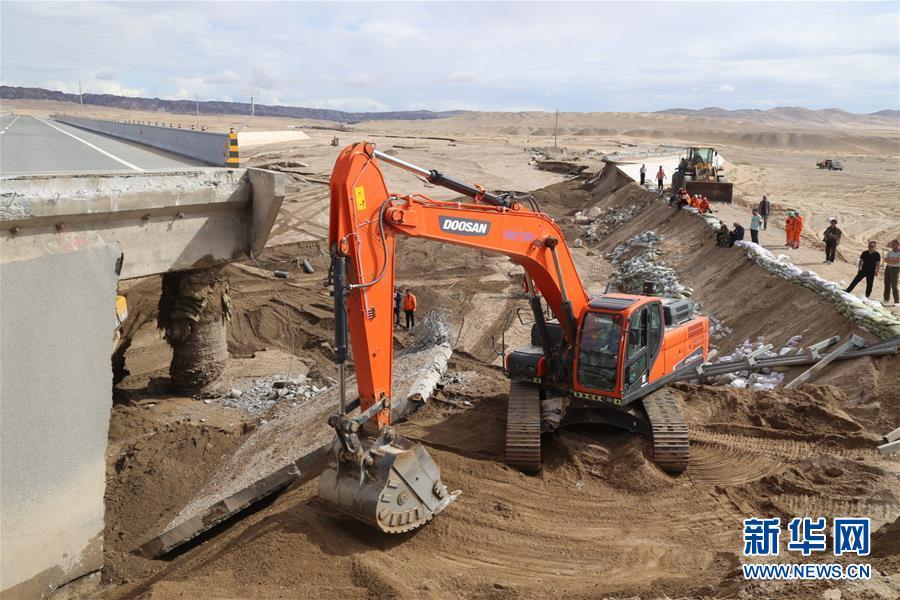 #(社会)(3)水毁路段抢通 敦煌莫高窟恢复开放