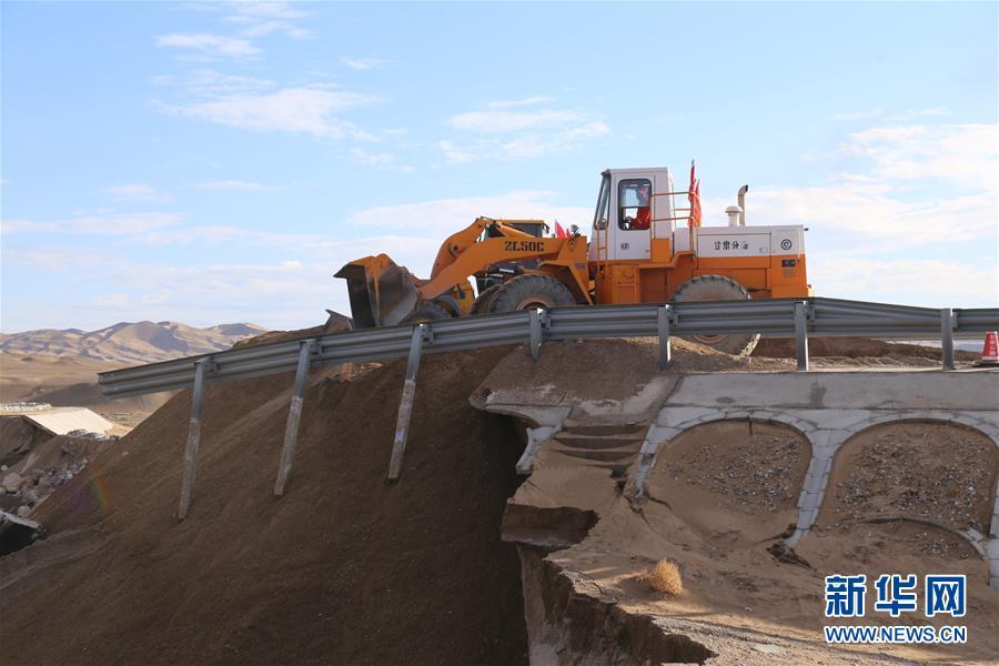 #(社会)(2)水毁路段抢通 敦煌莫高窟恢复开放