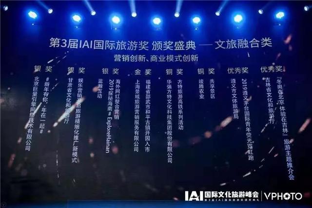 甘肃省文化和旅游厅荣获IAI国际旅游奖两项大奖