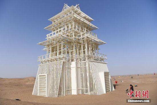 """甘肃民勤沙漠里的《星光阁》如""""海市蜃楼"""""""