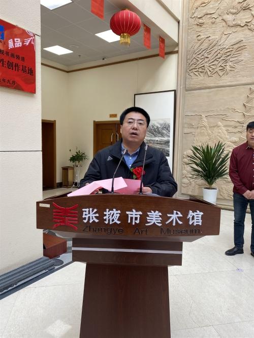 大河魂—兰州画院美术作品展在张掖市成功举办
