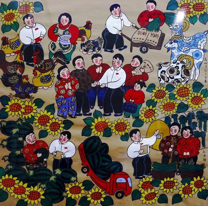 甘肃农民画作品展定西巡展在定西市美术馆成功举办