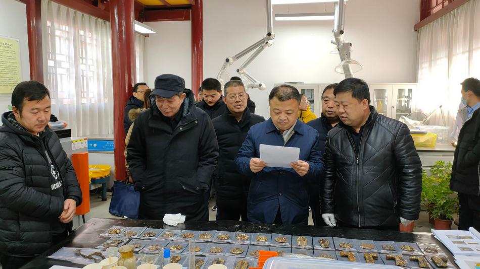 天水市博物馆馆藏战国铁质文物保护修复项目完成初验