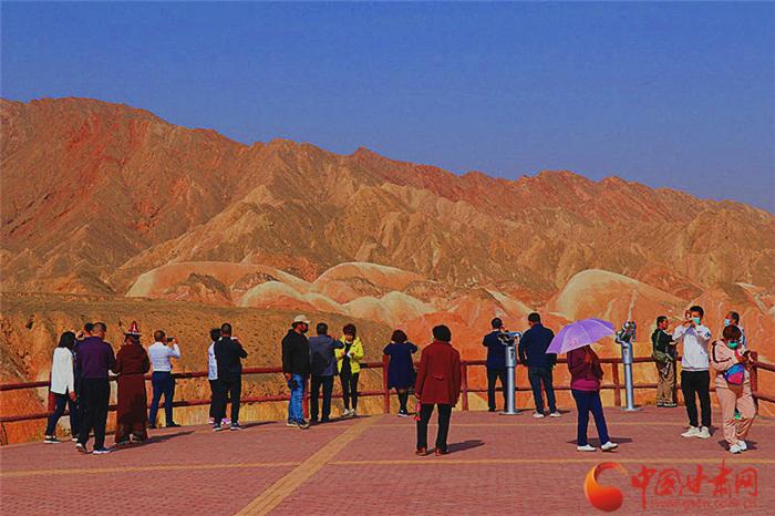 河西春光美!张掖丹霞大景区2月游客接待量大幅提升