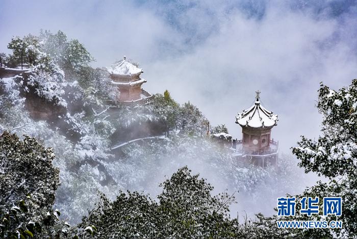 【视频】飞雪连天崆峒山